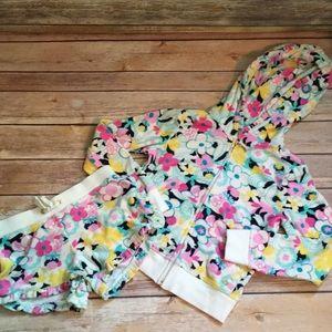 Girls Juicy Couture Floral Jacket/Short Set, Sz S